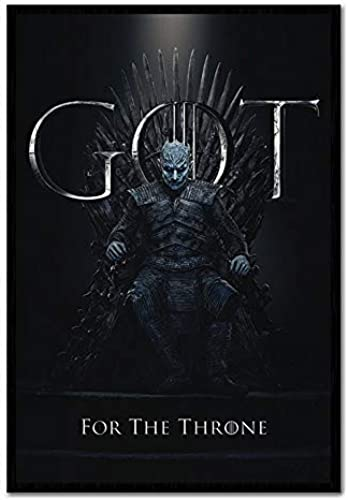 iPosters Game of Thrones die Nacht King für The Throne Plakat Kork Pinnwand - Schwarz