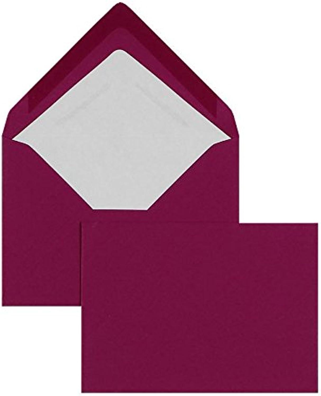 Blanke Briefhüllen - 100 Briefhüllen im Format 90 x 140 mm in Amarena B00FPO7PQS | König der Quantität