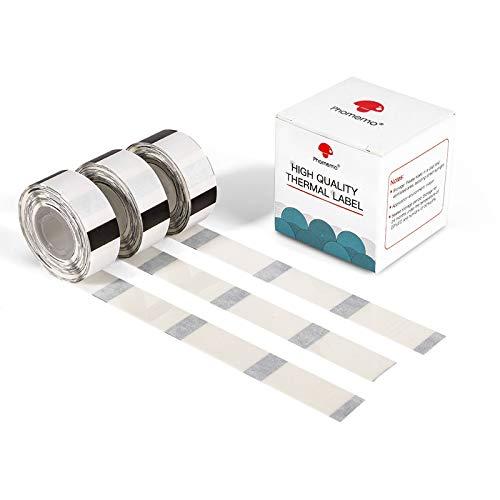 D30 Klares Thermoetiketten-Etikettendrucker Transparentes Etikett Thermodruckerpapier Selbstklebendes 14x25mm(0,55x0,98Zoll) für die Aufbewahrung von Namenspreisen, kompatibel mit Phomemo D30,3 Rollen