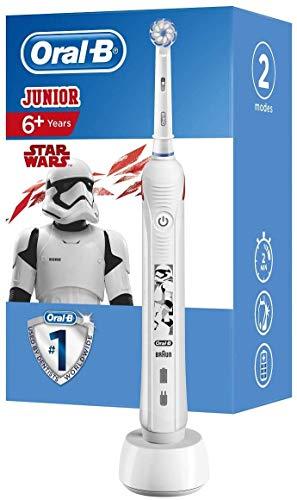 Oral-B Junior StarWars Wiederaufladbare Elektrische Zahnbürste Powered By Braun, 1Handstück, 1Aufsteckbürste, für Kinder ab 6Jahren