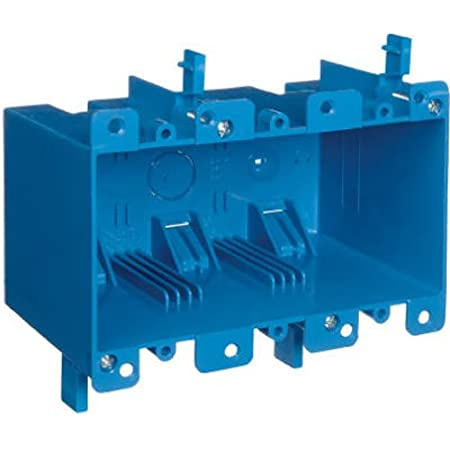 Carlon B355R Switch/Outlet Box, Old Work, 3 Gang, 5.72-Inch Length by 2.79-Inch Width by 3.69-Inch Depth, Blue, 1-Pack
