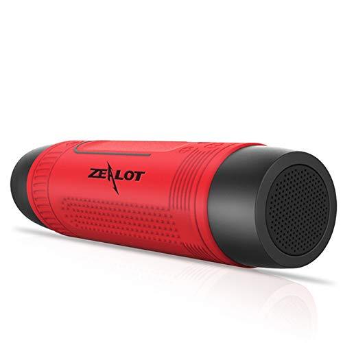 Zealot Wireless Outdoor Waterproof Bluetooth Speaker S1 Portable FM/TFCard Shockproof Dustproof Altavoces Haut Parleur SOS LED Flashlight (red)