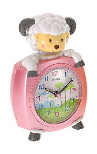 Mebus Quarz-Kinderwecker Schaf pink 26617