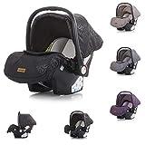 Chipolino Kindersitz Babyschale Havana Gruppe 0+ (0-13 kg) Adapter, Sonnendach, Farben:schwarz