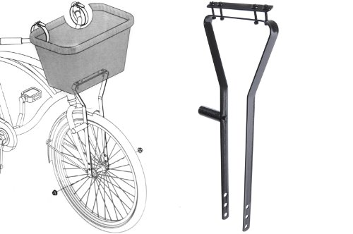 AMMACO CYCLE BIKE BICYCLE BASKET METAL FRAME...