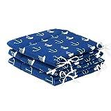 Amilian® Tour de lit - tour de lit de protection de la tête - 420x30cm, 360x30cm, 180x30cm - Tour de lit pour bébé - Protection de bord - Literie - Grand bleu avec ancres
