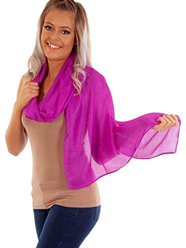 DOLCE ABBRACCIO by RiemTEX ® Schal Damen PRIMA DONNA Stola Tuch aus Wildseide in purpurnem Violett Tücher in 31 Uni Farben Halstücher Seidentuch Schals Damen Halstuch Seidenschal (Purpur)