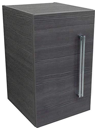 FACKELMANN Unterbauschrank Lugano/mit Soft-Close-System/Maße (B x H x T): ca. 35 x 59 x 39 cm/hochwertiger Schrank fürs Bad/Türanschlag Links/Korpus: Grau/Front: Grau/Breite 35 cm