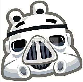 5 Inches Stormtrooper Storm Trooper Pig Pigs Angry Birds Star Wars Removable Peel Self Stick Adhesive Vinyl Decorative Wall Decal Sticker Art Kids Room Home Decor Girl Boy 5x4 Inch