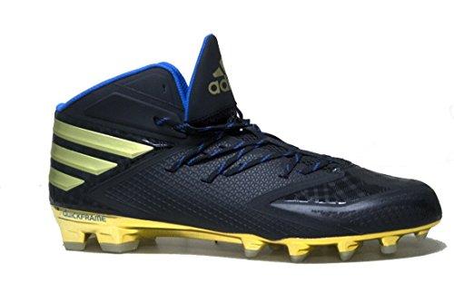 adidas Men's SM Freak X Carbon Mid Football Cleats (14, Core Black/Gold Metallic/Bright Royal)