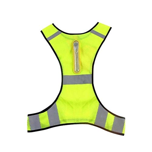 Shang Jiangan Warnwesten, die draußen in der Nacht Emissions Warnweste, Marathon, Laufen, Radfahren, unisex Weste (Color : Fluorescent Yellow)