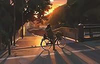 CYHHJDXCクロスステッチキット 夜に自転車に乗る少女 40×50cmDIY11CT刺繡工芸品スターターキット用マルチカラー針先パターン室内装飾(刻印入りキット)