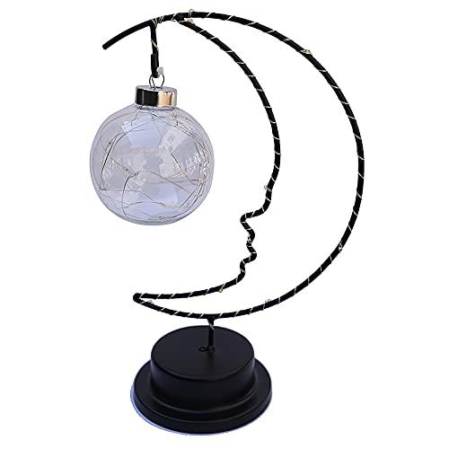 UTDKLPBXAQ Lámpara en forma de luna Lámpara de modelado LED Lámpara decorativa única Lámpara de mesa duradera con pilas Dormitorio Luz de noche Luz de sueño para el hogar Sala dormitorio
