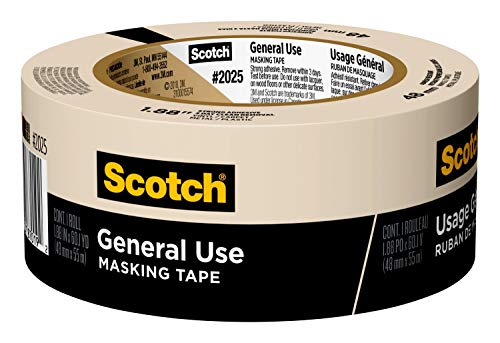 Scotch Greener Masking Tape for Basic Painting, 1.88 in x 60 yard, 2025, 1 roll