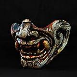 Motorcycle Face Mask Demon Oni Samurai Mempo...
