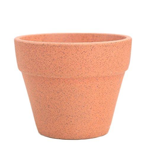 Outflower Rough Pottery Vase en céramique Plantspot artificielles pour décoration de maison 9.5x7.5cm Orange