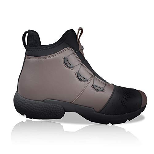 MADBIKE RACING EQUIPMENT Lekkie buty motocyklowe dla mężczyzn, wodoszczelne, do motocrossu, sportowe, wyścigowe, antypoślizgowa podeszwa (brązowa, 43)