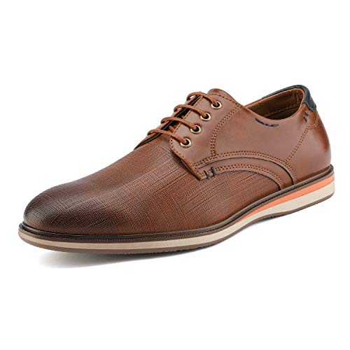 Bruno Marc Men's Dress Oxford Sneakers Shoes Brown Size 11 M US Lg19009m