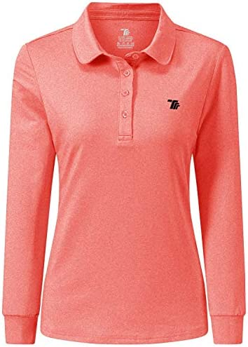 AIRIKE Golf Polo Shirts for Women Long Sleeve Colourful Quick Dry Workwear Activewear Womens product image