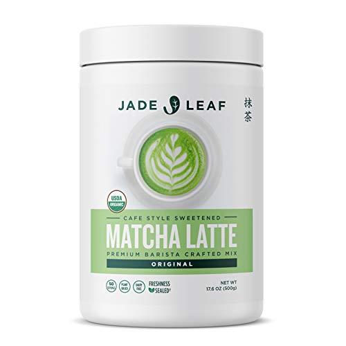 Jade Leaf Organic Matcha Latte Mix - Cafe Style Sweetened Blend - Sweet Matcha Green Tea Powder (1.1 Pound)