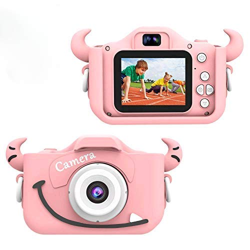 Kids Digital Camera, Pixel Camera with a Cute Silicone Shell for 3-10 Years Old Boys Girls,Birthday Gifts Toy,2.0 inch Display 1080P Camcorder HD Video Recorder with 16GB Card and USB Cable …
