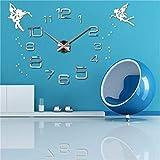 Hyllbb Anself DIY Reloj de Pared Grande Etiqueta de Espejo 3D Calcomanía de Pared Decoración Reloj Habitación Decoración 47 Pulgadas