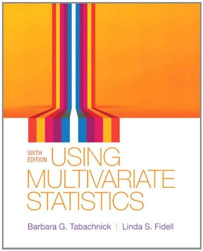 Using Multivariate Statistics (6th Edition)