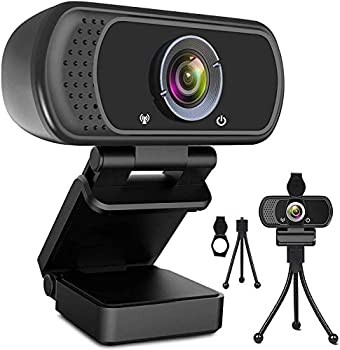 Webcam HD 1080p Web Camera USB PC Computer Webcam with Microphone Laptop Desktop Full HD Camera Video Webcam 110 Degree Widescreen Pro Streaming Webcam for Recording Calling Conferencing Gaming
