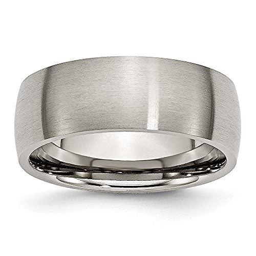 Alianza de boda de titanio cepillado, 8 mm