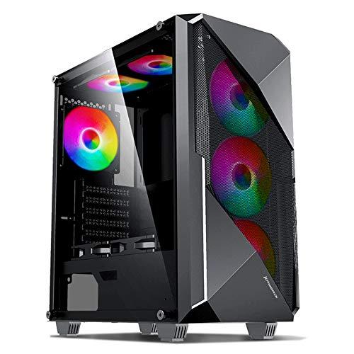 Phoenix Technologies - Caja de Ordenador, PC Gaming, Semitorre ATX, Cristal Templado, Ventilador RGB Incluido y Controlador ARGB preinstalada, Filtro Anti-Polvo, Compatible con Placas ARGB 3 Pines