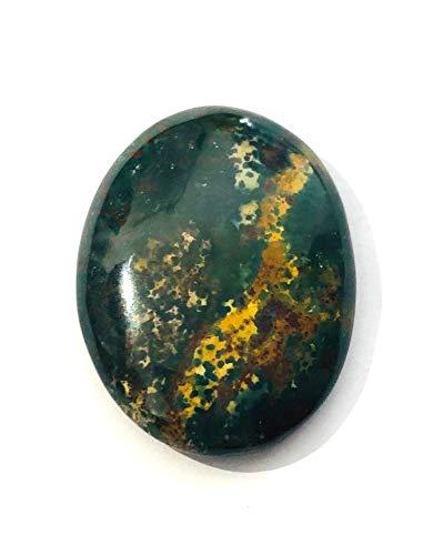 CRYSTALMIRACLE Cabujón de piedra de sangre Reiki curativo de cristal único Energía psíquica Feng Shui Piedra preciosa metafísica Energía positiva Meditación Regalo Bienestar