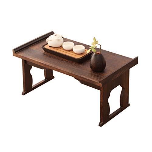 Tables Basses Tatami Basse Brûlant Paulownia Baie Vitrée Lit Basse Petite À Thé Antique Chinoise Pliante Petit Bureau Salon À Thé Simple Basses