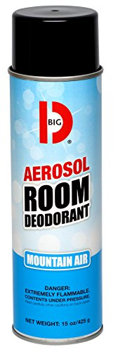 Big D 426 Aerosol Room Deodorant, Mountain Air Fragrance, 15 oz (Pack of 12) - Industrial strength handheld air freshener ideal for restrooms, offices, schools, restaurants, hotels, stores