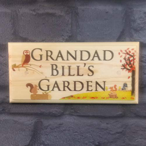 Personalised Garden Sign, Grandads Garden Sign, Custom Shed Name Plaque