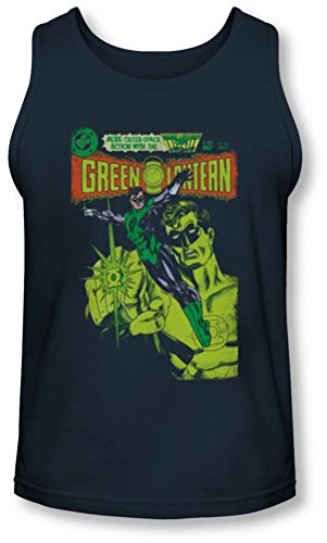 Green Lantern - - Couverture vintage Tank-Top pour hommes, Small, Navy