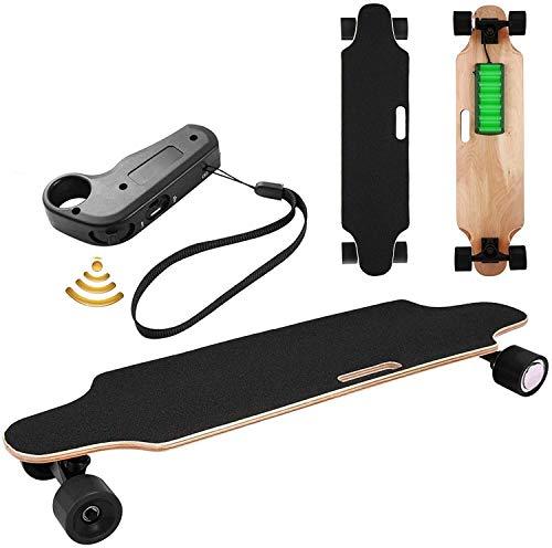 Oppikle Elektrisches Skateboard Jugend-elektrisches Longboard, E Skateboard Elektrisches Elektrolongboard mit Fernbedienung und Motor-Reichweite Ca 10 km