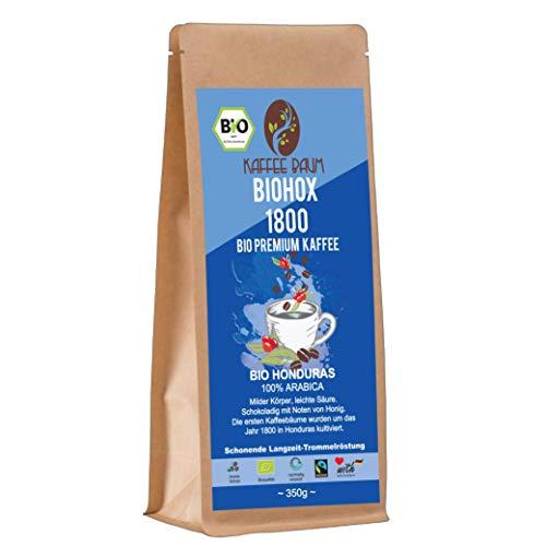 BIOHOX 1800 von Kaffeebaum | BIO Premium Arabica Kaffee | 100% Arabica | aromatischer Filterkaffee | Kaffeegenuss aus Honduras | Kaffee gemahlen 150g | BIO-Qualität