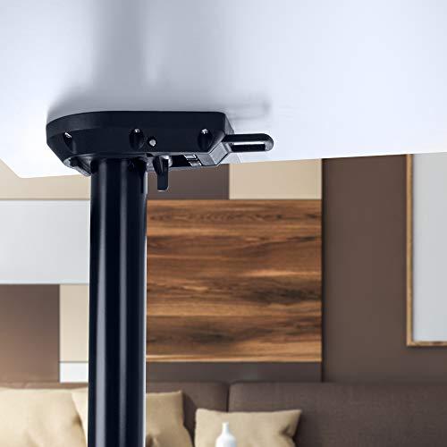 Gedotec Patas plegables para mesa de color negro mate, patas para muebles, altura ajustable, 705 mm, tubo de pie de 50 mm de diámetro, patas de muebles, capacidad de carga de 100 kg