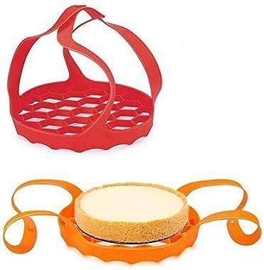 BestMal 2 piezas de silicona para olla instantánea, cesta de cocción de huevos con asas, olla de silicona a presión para olla