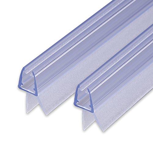 2x80cm Sealis Ersatzdichtung - Dichtkeder Dichtung für 5mm/ 6mm/ 7mm/ 8mm Glasdicke Wasserabweiser Duschdichtung Schwallschutz Duschkabine, Transparent