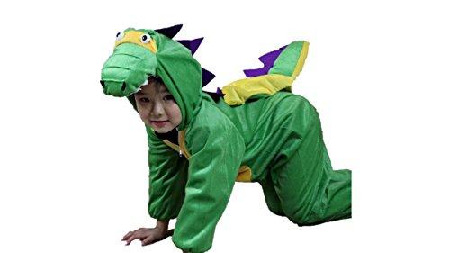 Niños Disfraces de Animales Niños Niñas Unisex Disfraces Cosplay Niños Onesie (Dinosaurio, M (para niños de 90 a 105 cm de Altura))