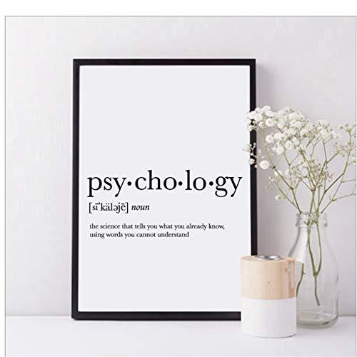 A&D Psychologie Zitat Leinwand Malerei Geschenke Print Definition Poster Studentenwohnheim Zimmer Wandkunst Minimalistischen Poster-50x70 cm Kein Rahmen