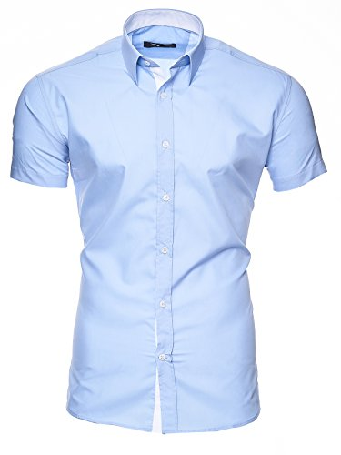 Kayhan Herren Kurzarm Hemd Florida Lightblue XL