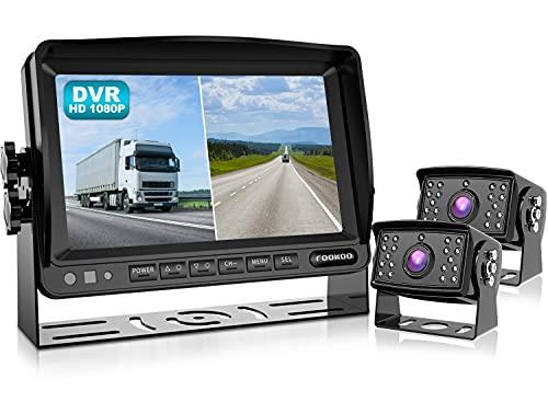 Fookoo Ⅱ HD 1080P Backup Camera System Kit,7''...