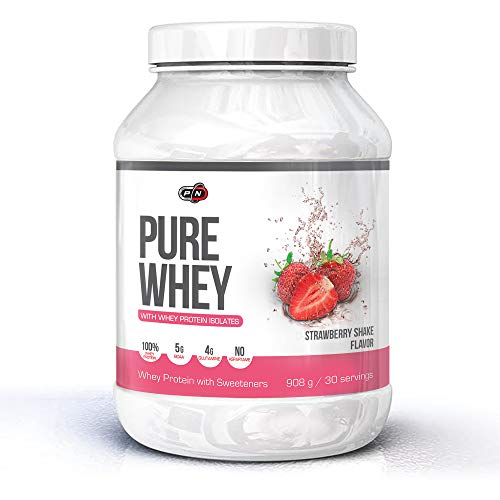 Pure WHEY Protein Powder Choco Strawberry Vanilla Cookies Cream 500g 1kg 2kg 15 30 76 Servings Low Carb Sugar Optimum Lean Muscle Building Nutrition Supplement Concentrate Matrix 5g BCAA 4g Glutamine