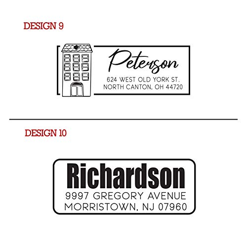 Typii - Custom Return Address Stamp Self Inking or Traditional Rubber Stamp - Name and Address Stamps - Wedding - Business - Personalized Stamp - 3 Lines - 7/8 X 2 3/8 Photo #2