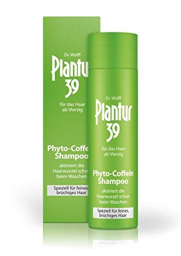 Plantur 39 Phyto-Coffein-Shampoo – speziell für feines und brüchiges Haar – Pflegeshampoo zur Vorbeugung vor menopausalem Haarausfall – 1 x 250 ml