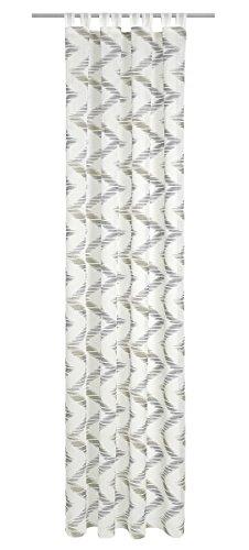 Deko Trend Montana 6236780 97 Rideau à Patte Polyester Blanc/Gris 245 x 140 x 245 cm