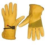 HomeGardenWish Cowhide Leather Work Gloves...
