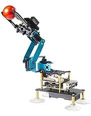 Adeept 4-DOF Robot Arm 4 Axis Robotic Arm Kit Programmeerbare DIY Codering Robot Kit met OLED Display /Processing Code en PDF Tutorial via Download Link